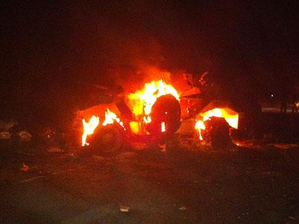 """שוב: השתלטות חמושים על רכב צבאי מצרי. ארכיון (צילום: דו""""צ)"""