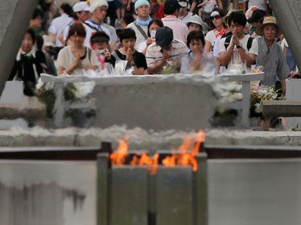 טקס זיכרון לחללי ההירושימה ביפן (צילום: חדשות 2)