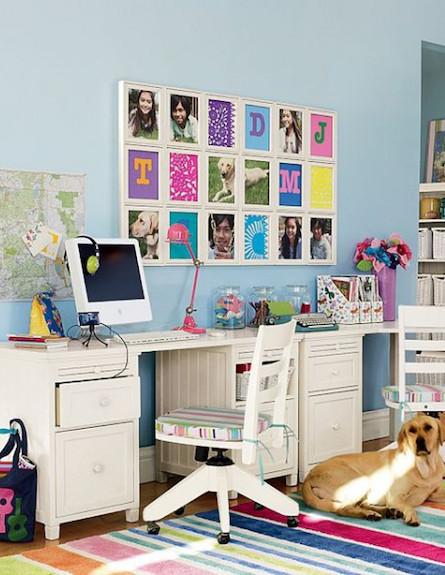 פינת לימוד עליזה וצבעונית (צילום: מתוך האתר nabuzz.com)