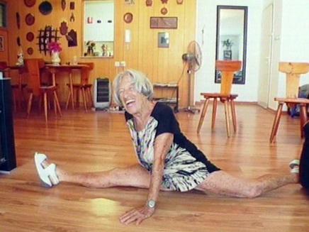 אגנס קלטי, פעם מתעמלת - תמיד מתעמלת (צילום: חדשות 2)