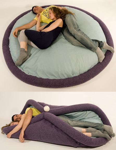 מיטה עגולה (צילום: oradariadesign.com)