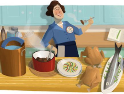 ג'וליה צ'יילד גוגל דודל (צילום: google.com)