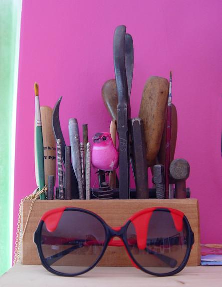 משקפיים על המדף (צילום: צילום ביתי)