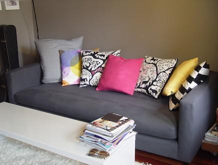 ספה בסלון (צילום: צילום ביתי)