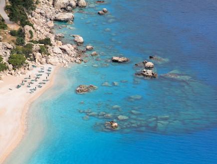 """החוף בקאפטוס מבט עליון (צילום: עידית נרקיס כ""""ץ)"""
