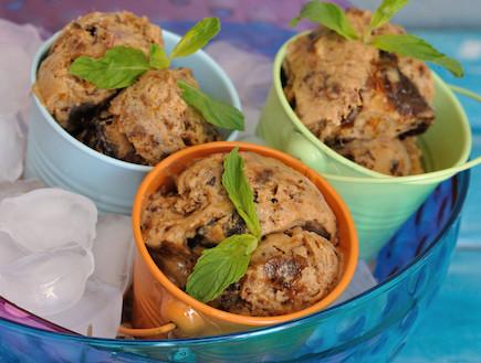 גלידת שזיפים ואפרסקים של טעימא (צילום: יפית בשבקין, אוכל טוב)