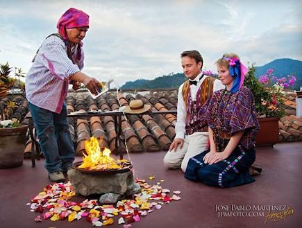 חתונה באנטיגואה (צילום: jose pablo)