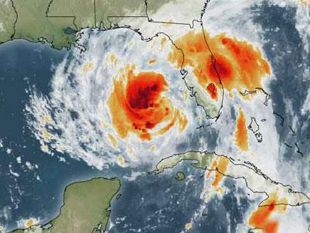 תמונת הלווין של ההוריקן המתקרב (צילום: ערוץ מזג האוויר)