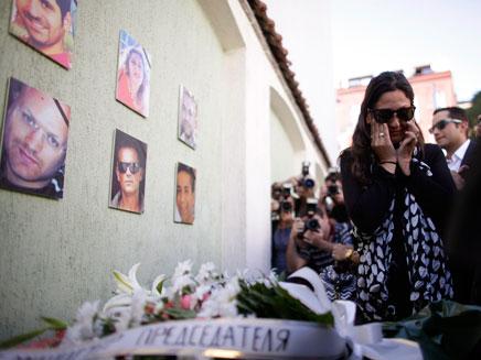 טקס האזכרה לנרצחי הפיגוע בבורגס (צילום: חדשות 2)