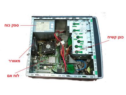 מחשב פתוח (צילום: ניב ליליאן)
