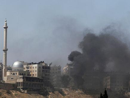 הפצצות סוריה (צילום: רויטרס)
