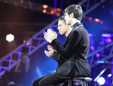 איטן גרינברג ואור טרגן על הבמה