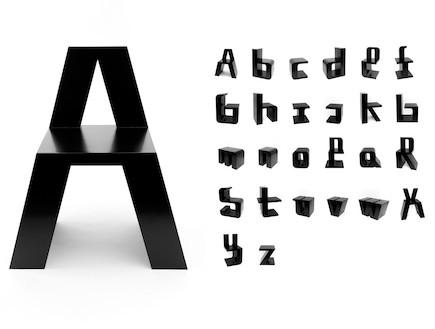 כיסא בצורת האות a (צילום: roelandotten.com)