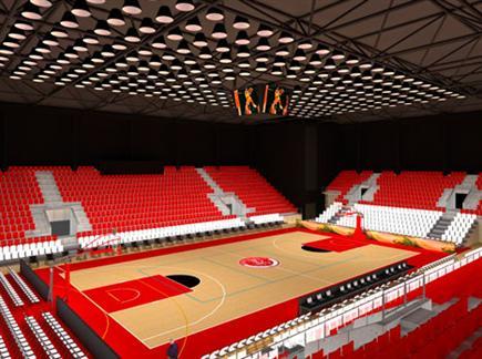 הדמיית האולם. בית חדש לאדומים (öéìåí: ספורט 5)