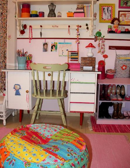 קולאז' חדר ילדה (צילום: שי אפשטיין)
