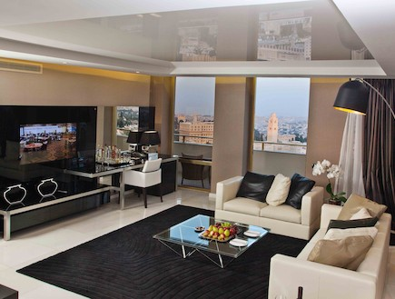 הסוויטה החדשה  במלון  לאונרדו פלאזה ירושלים (צילום: דניאל לילה,  יחסי ציבור )