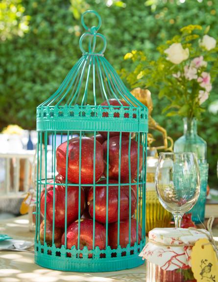 שולחן חג-כלוב תפוחים בעיצוב נעמי ונאוה (צילום: ליאור קסון)