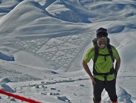 אמנות השלג באלפים (תמונת AVI: odditicentral.com)