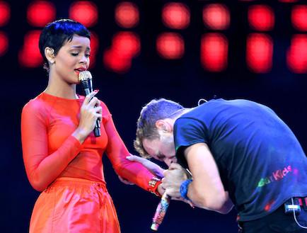 ריהאנה, כריס מרטין (צילום: Peter Macdiarmid, GettyImages IL)