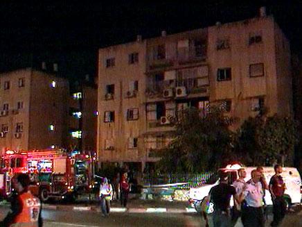 שריפה בבניין מגורים. ארכיון (צילום: חדשות 2)