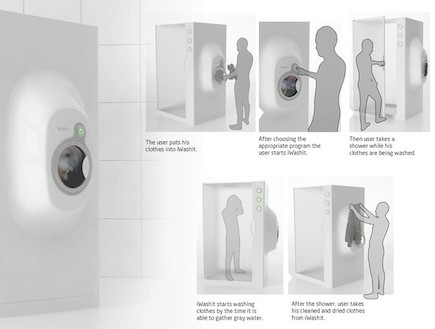 מכונת כביסה - פרטית (צילום: מתוך האתר -www.behance)