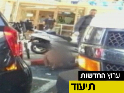 שוטרים חישמלו חשוד אזוק באדח לייזר (צילום: חדשות 2)