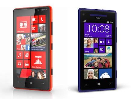 (מימין) HTC Phone X, (משמאל) נוקיה לומיה (צילום: אילוסטרציה)