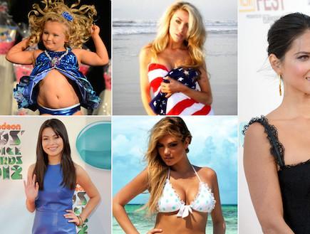 קולאז' כוכבות אמריקאיות