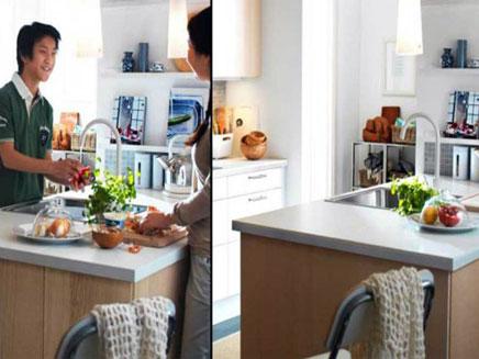 מטבח בלי נשים -שוביניסטיות מודרנית, מתוך (צילום: מתוך קטלוג Ikea)