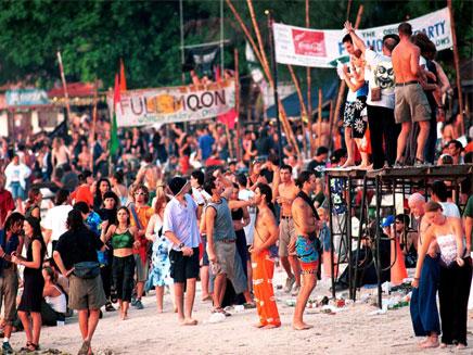 מסיבת פול מון תאילנד, קופנגן (צילום: AP)