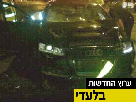 זירת התאונה בנתניה (צילום: חדשות 2)