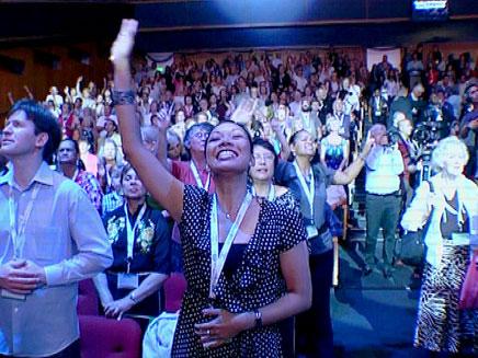 צפו: הנוצרים שמעריצים את ישראל (צילום: חדשות 2)