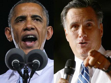 ברק אובמה ומיט רומני (צילום: חדשות 2)
