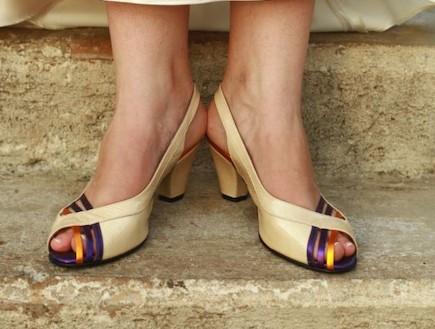 החתונה של יאנה ודניאל - נעליים (צילום: לירון ברייר)