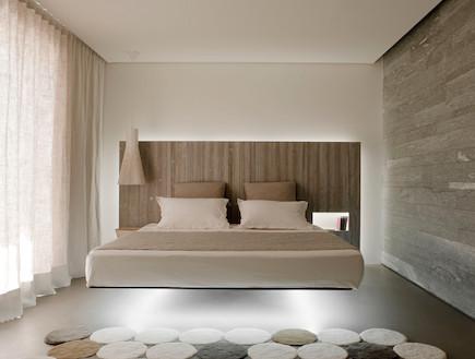 חדר שינה (צילום: Vincent Leroux)