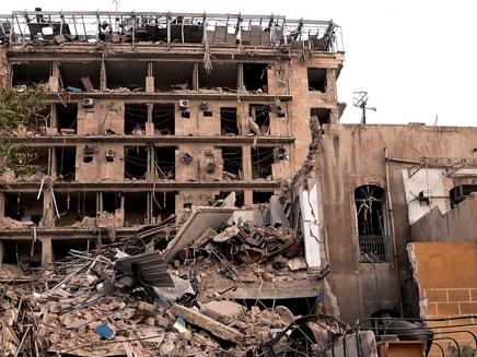 אש בסוריה. ארכיון (צילום: רויטרס)