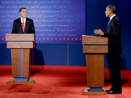 מיט רומני וברק אובמה (צילום: AP)