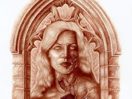 ציורי הדם של וינסנט קסטיליה (צילום: odditycentral.com)