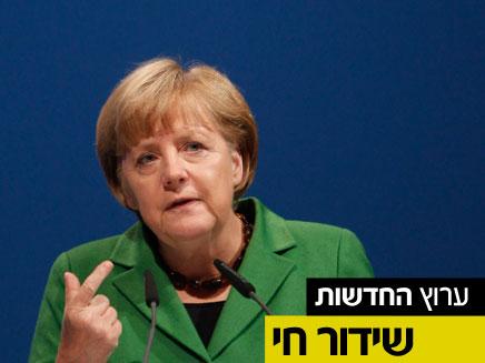 """כינו את מרקל """"נאצית"""". מהומות ביוון (צילום: AP)"""