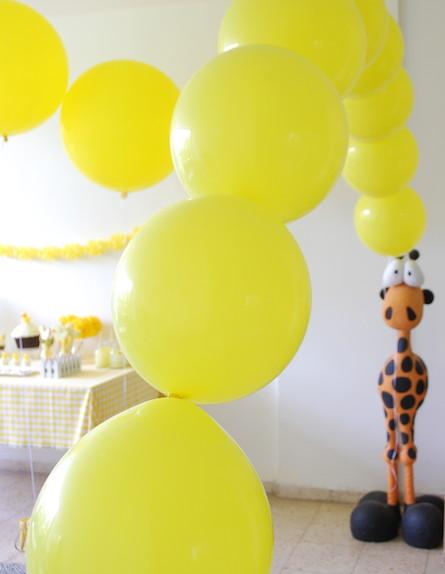בלונים צהובים