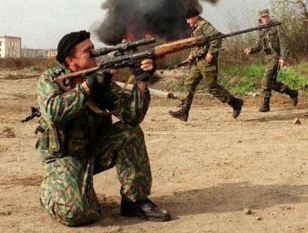 צלף רוסי בצ'צ'ניה