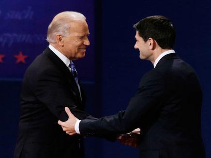 קרב הסגנים, ביידן וראיין (צילום: AP)