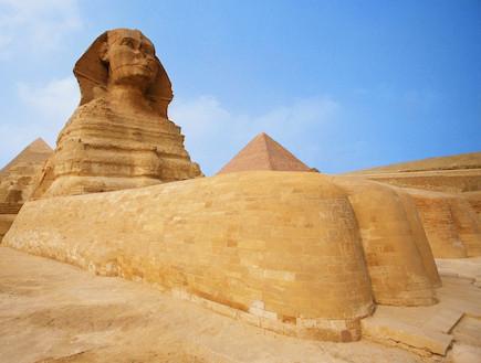 הספינקס בפירמידות (צילום: אימג'בנק / Gettyimages)