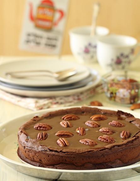 עוגת שוקולד, קרמל ופקאן - אורך
