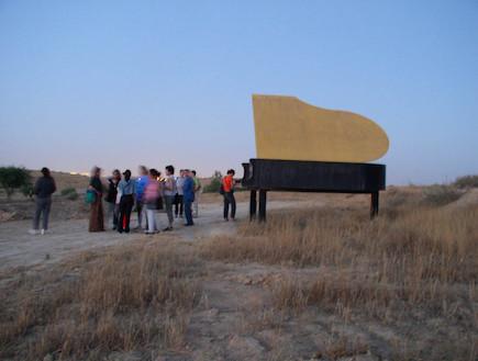 דרך הפסלים בחצרים 2 (צילום: איל שפירא)