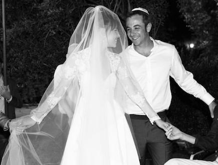 מאשה צייטלין ובעלה צביקה בחתונה (צילום: תומר ושחר צלמים)