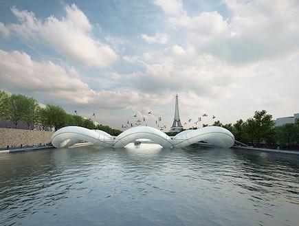 גשר טרמפולינה בפריז, צרפת (צילום: designtaxi.com)