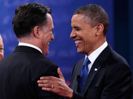 העימות האחרון בין אובמה ורומני (צילום: רויטרס)
