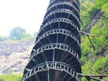 מדרגות מפותלות בסין