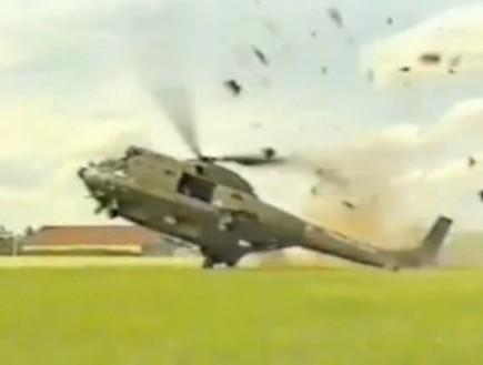 מסוק מתרסק (צילום: צילום מסך מתוך youtube)